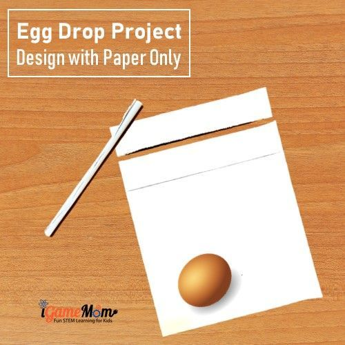 egg drop with only paper
