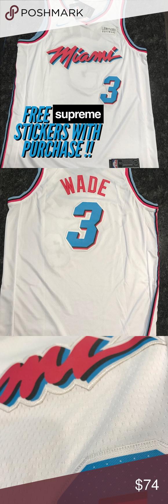 promo code fcaf4 483e2 🌊 🔥 NBA Vice City Edition Miami Heat Wade Jersey Brand new ...