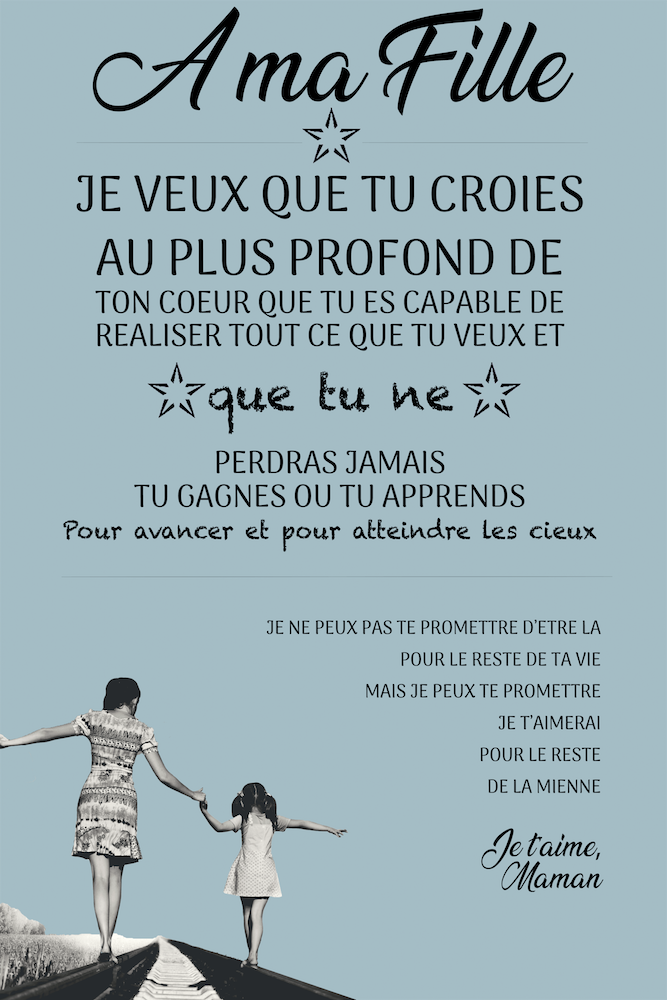 Citation D Une Mere A Sa Fille : citation, fille, Tableau, Citation, Fille