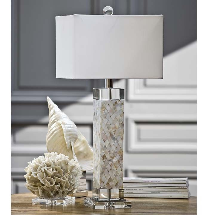 Diamond and mother of pearl square column table lamp light style diamond and mother of pearl square column table lamp aloadofball Images