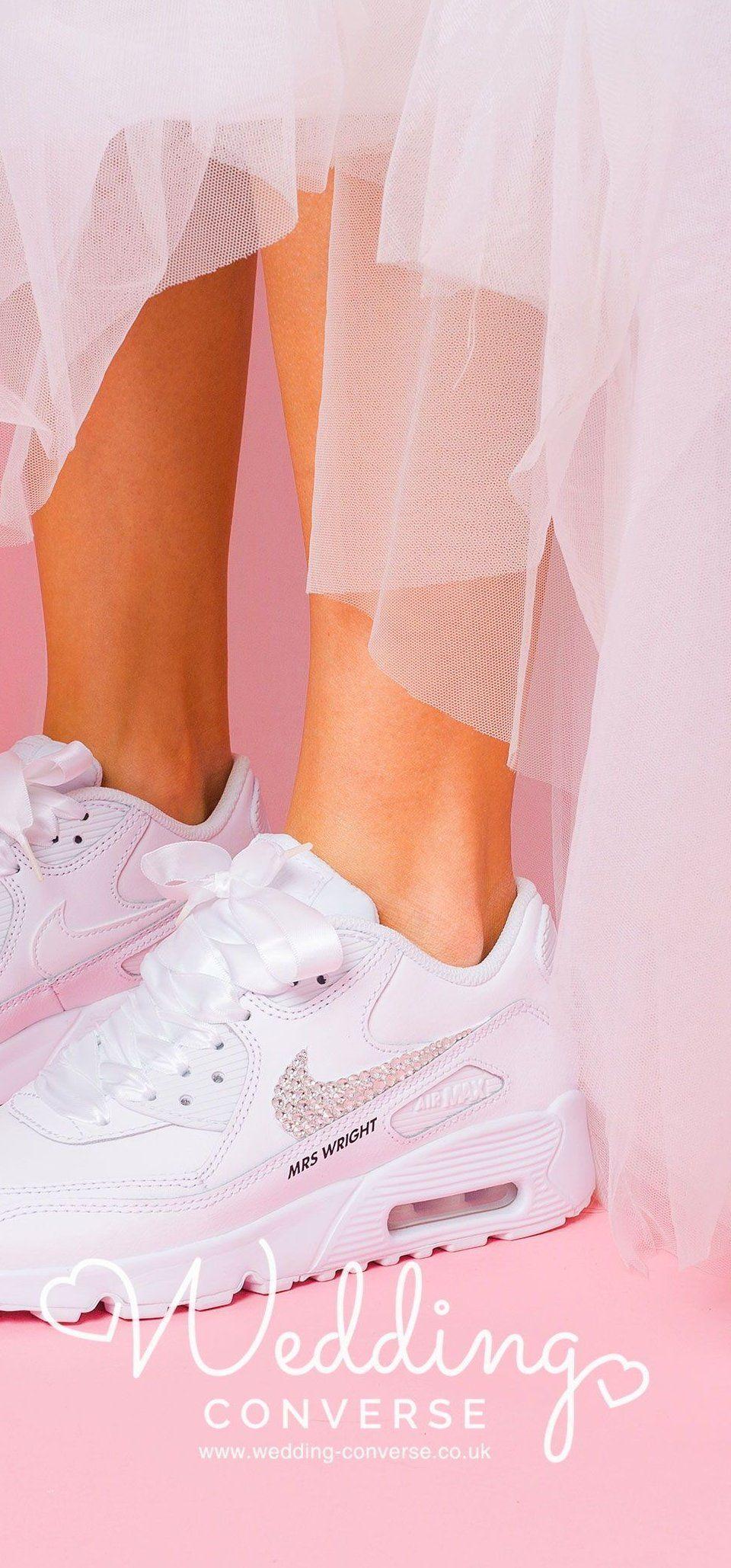 Nike Wedding Shoes L Nike Wedding Sneaker Nike Wedding Trainers Wedding Flats For Bride Bling Wedding Tennis Shoes Wedding Sneakers Bride Sneakers