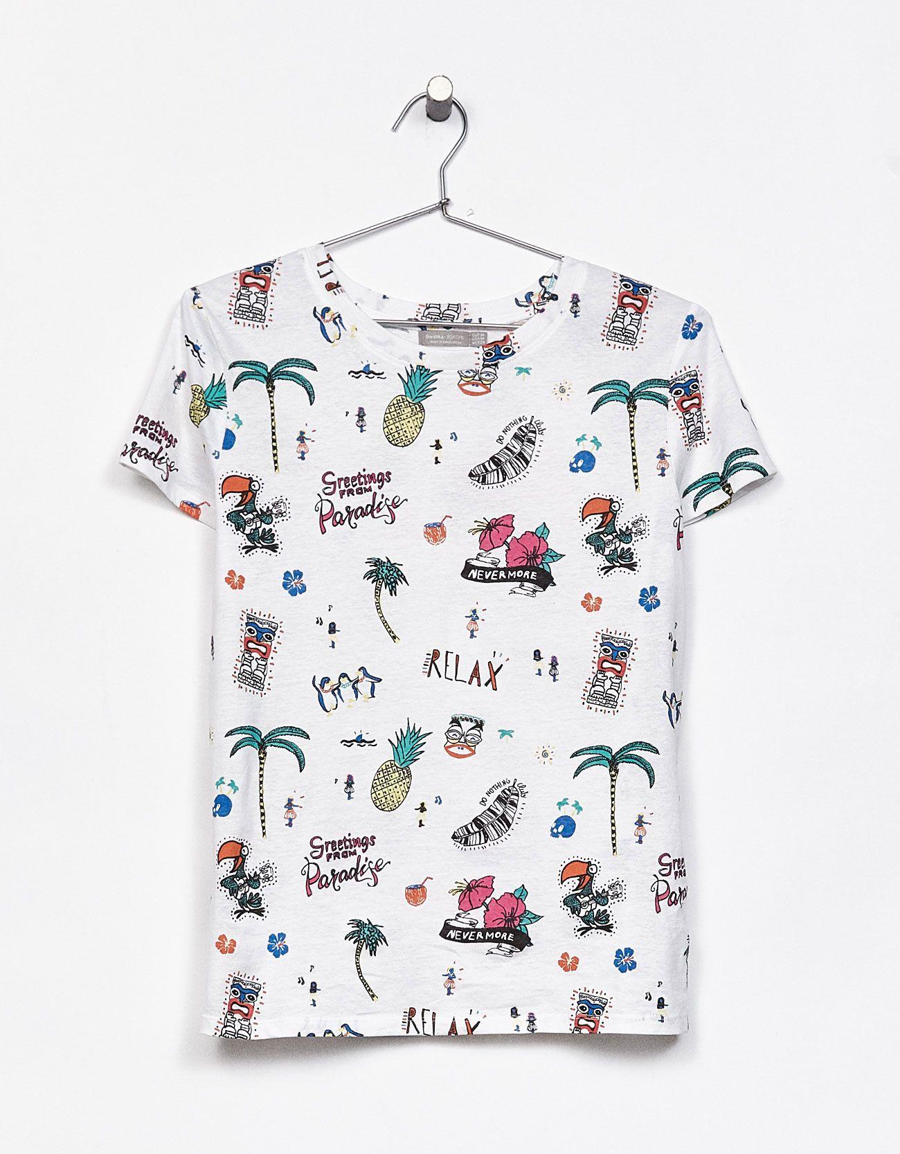Allover print cotton tshirt printed shirts boys t