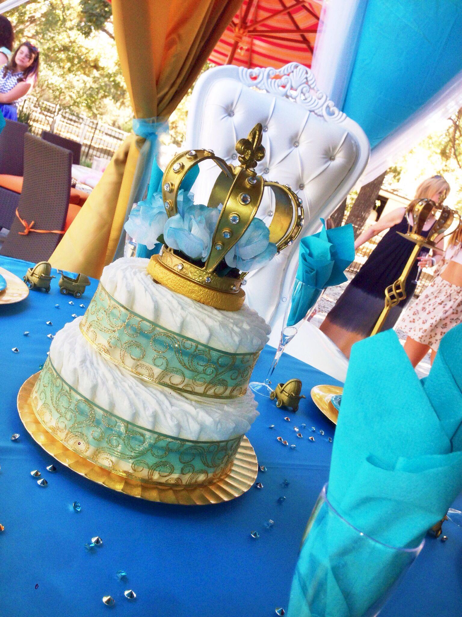 Alexis Royal Baby Shower Diaper Cake