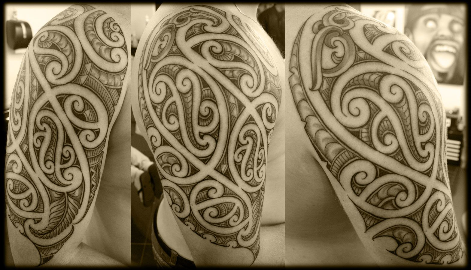 Custom Maori Tattoo Designs: Custom New Zealand Half Sleeve Ta Moko Full Wrap Kirituhi