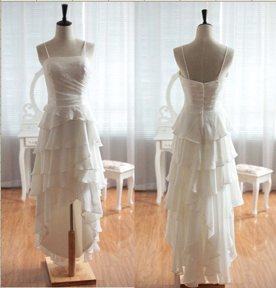 HighLow Skirt Formal Beach Wedding Dress Lace by DidoCouture, $159.00 ++++