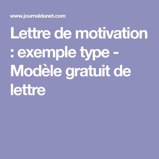 Lettre De Motivation Exemple Type Modèle Gratuit De