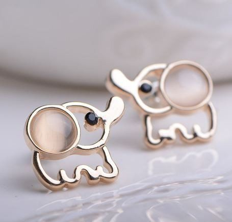 8bfc06c246b2 Elephant Rhinestone Earrings Joyería De Moda