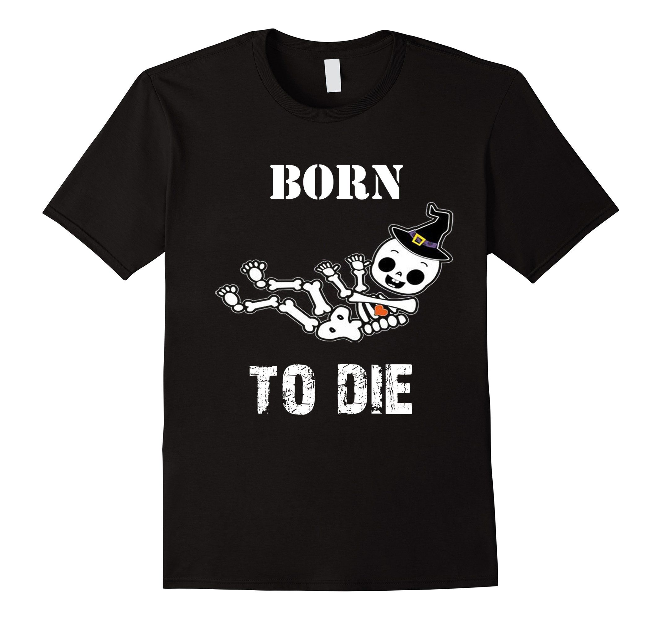 Men's Born to Die T-shirt, Halloween Baby Skeleton T-shirt Large Black -- Awesome products selected by Anna Churchill