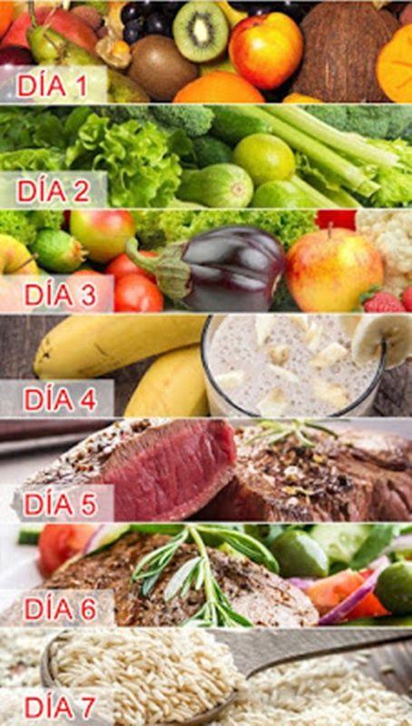 Recetas para adelgazar en 7 dias