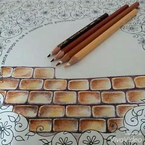 Shading Bricks Stone Color Pencil Art Colored Pencils Colored Pencil Techniques