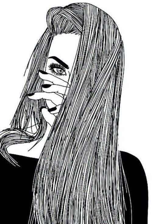 tumblr mädchen schwarz weiß