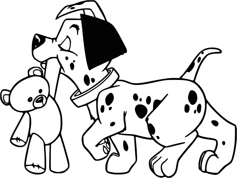 29 Precious Coloriage Dalmatien Pictures  Puppy coloring pages