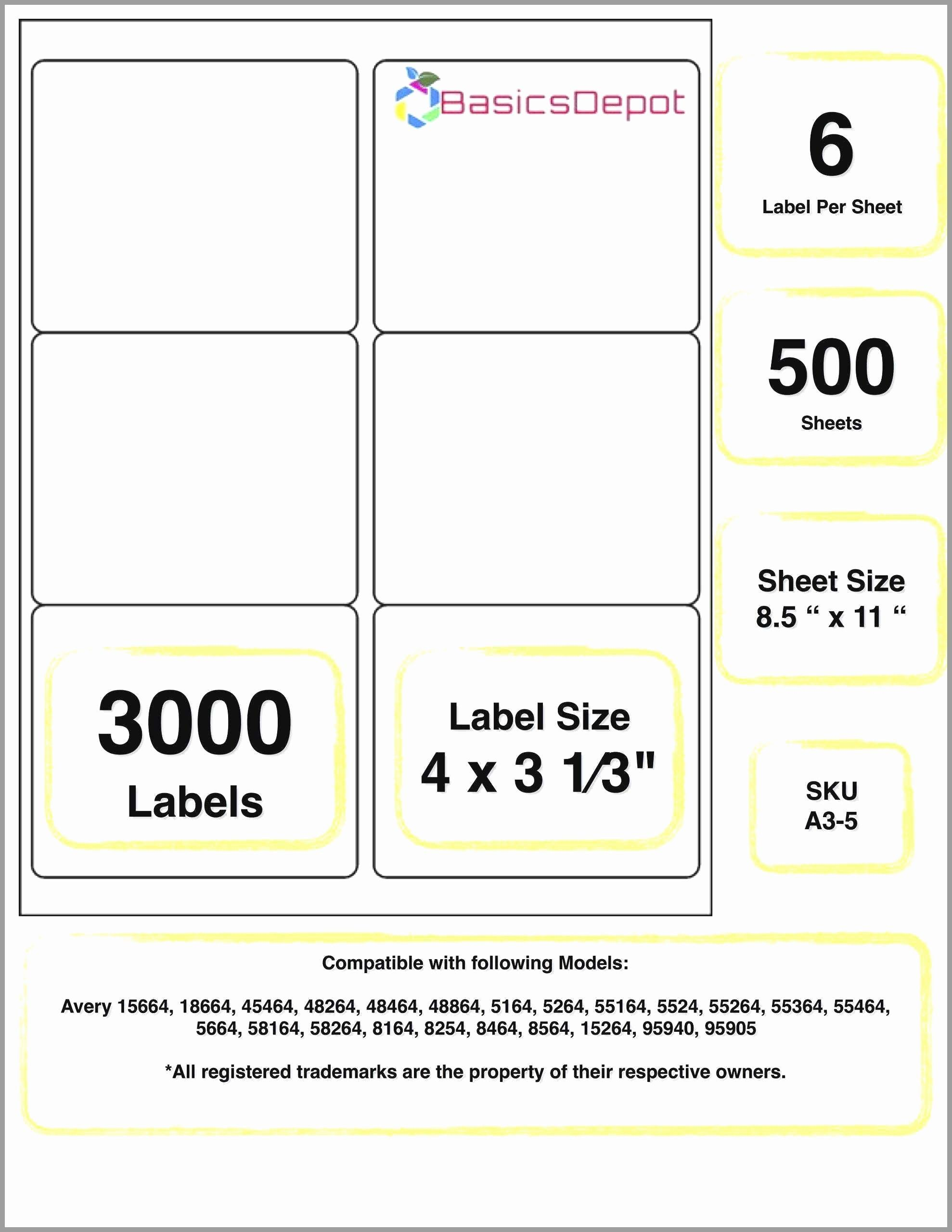 Avery 5164 Shipping Label Template Elegant Avery 6873 Template Lovely 96 Template For Avery 516 In 2020 Lip Balm Labels Template Label Templates Address Label Template