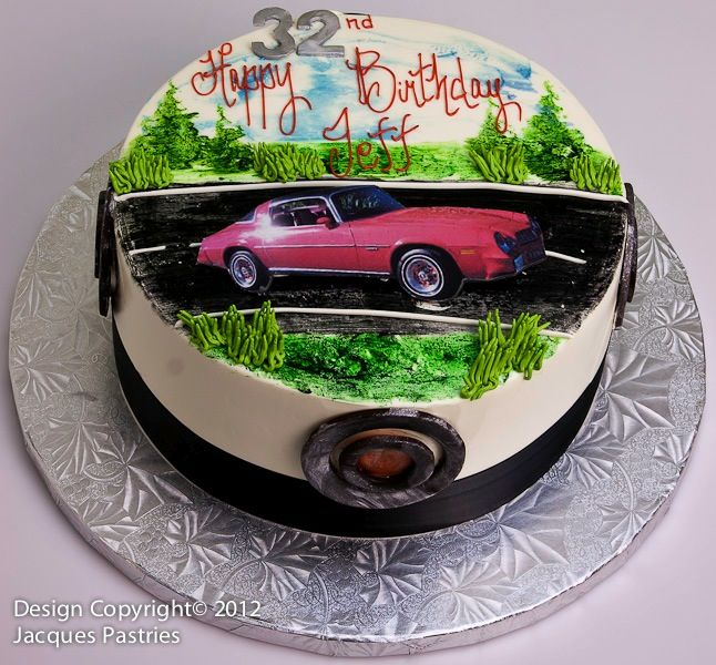 Muscle Car Cake Adult Birthday Cakes Happy Motorcycle