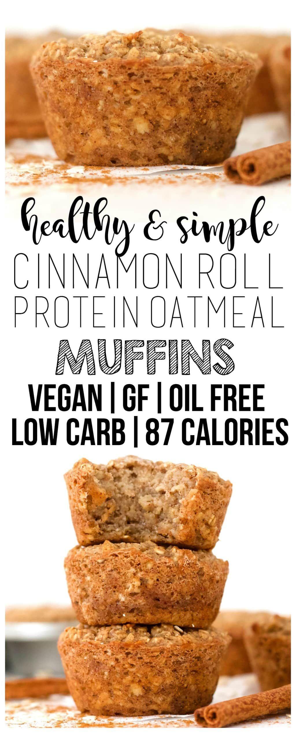 Cinnamon Roll Protein Oatmeal Muffins Recipe Healthy Breakfast