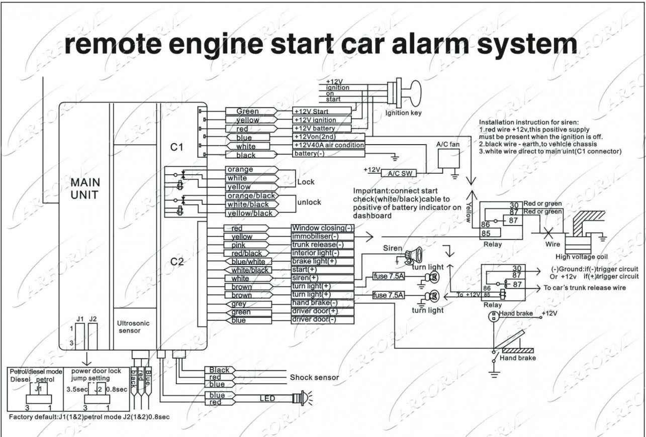 17 Remote Car Starter Installation Wiring Diagram Car Diagram Wiringg Net Car Alarm Alarm System Home Security Systems