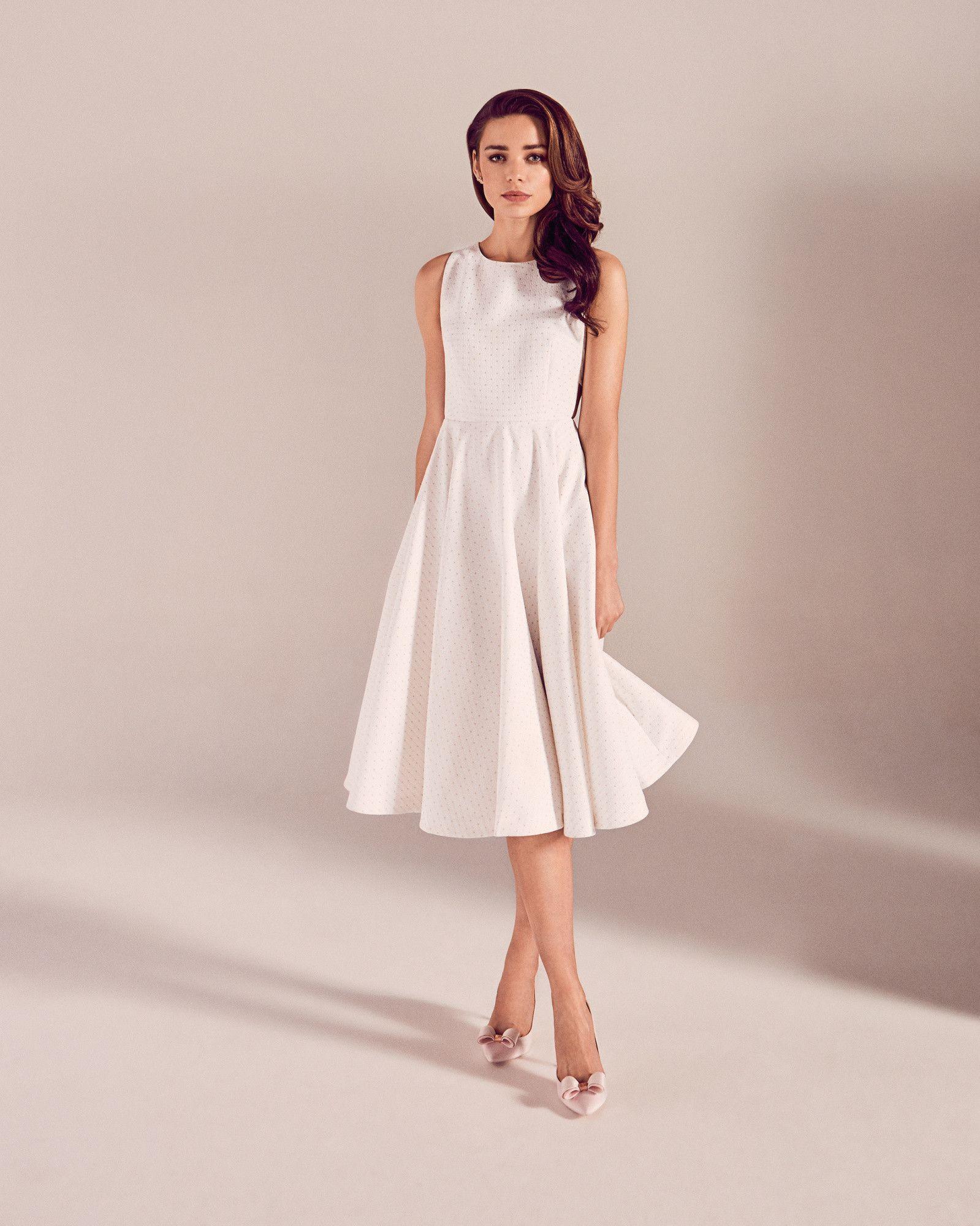Daisy Jacquard Cut Out Midi Dress