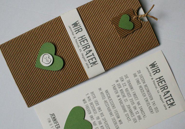 Hochzeitskarte Natur Wedding Invitation Nature Style Invitations