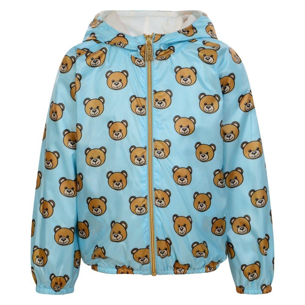 75a1019d9522 Baby Boys Blue Teddy Bear Print Jacket