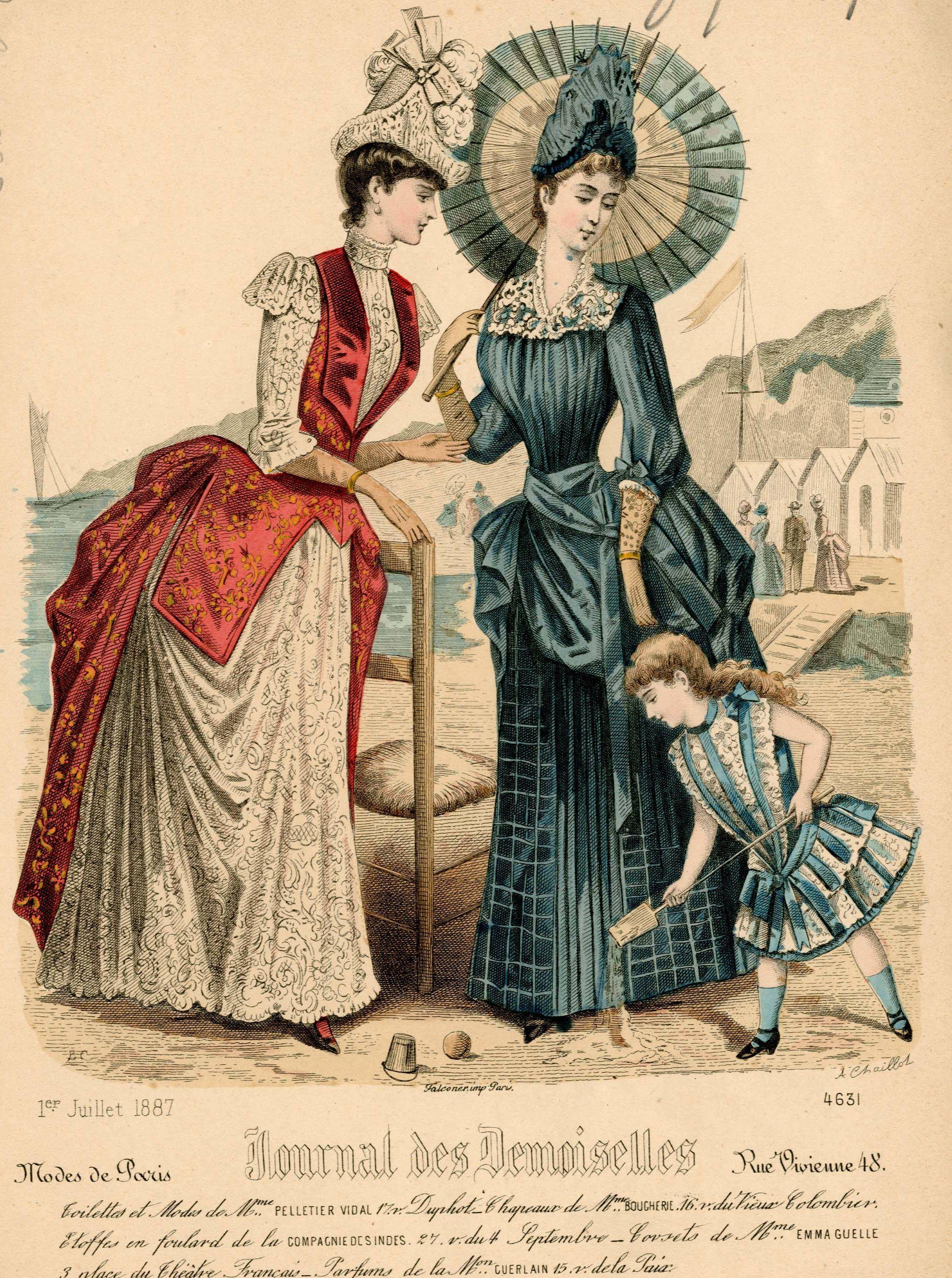 Journal des Demoiselles 1887 #englishdresses1880
