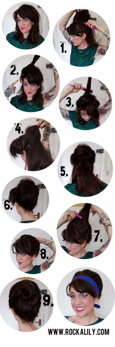 Easy Beehive Tutorial Quick 1960s Retro Hair Style Vintagehair Hair 1960s Beehive Fantasy Hair Retro Hairstyles Cool Hairstyles For Men