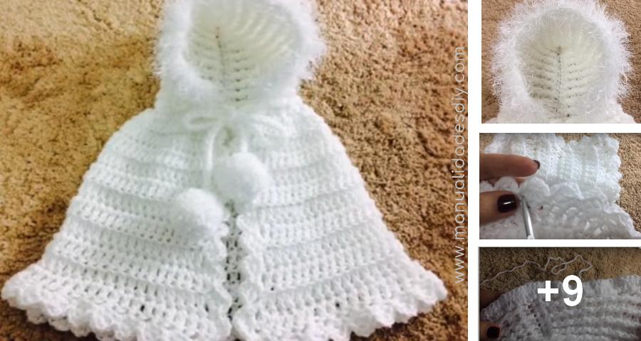 Tejer una Capinha para Bebé con Capucha a Crochet | Bufandas ...