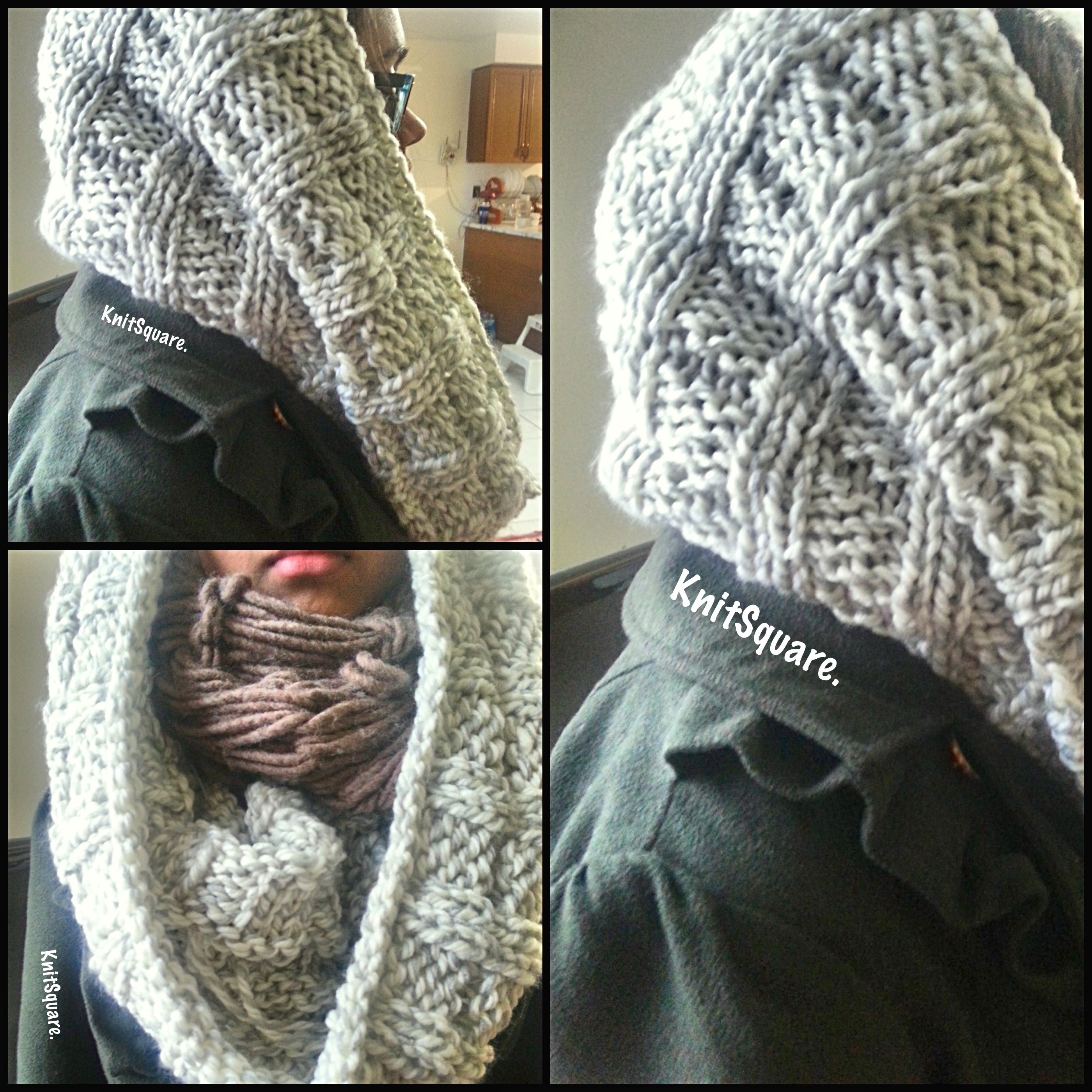 Knitted Cowl Pattern Circular Needles Interesting Design