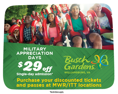 Busch Gardens Williamsburg Opening Sunday 3 16th Online Military S And Deals