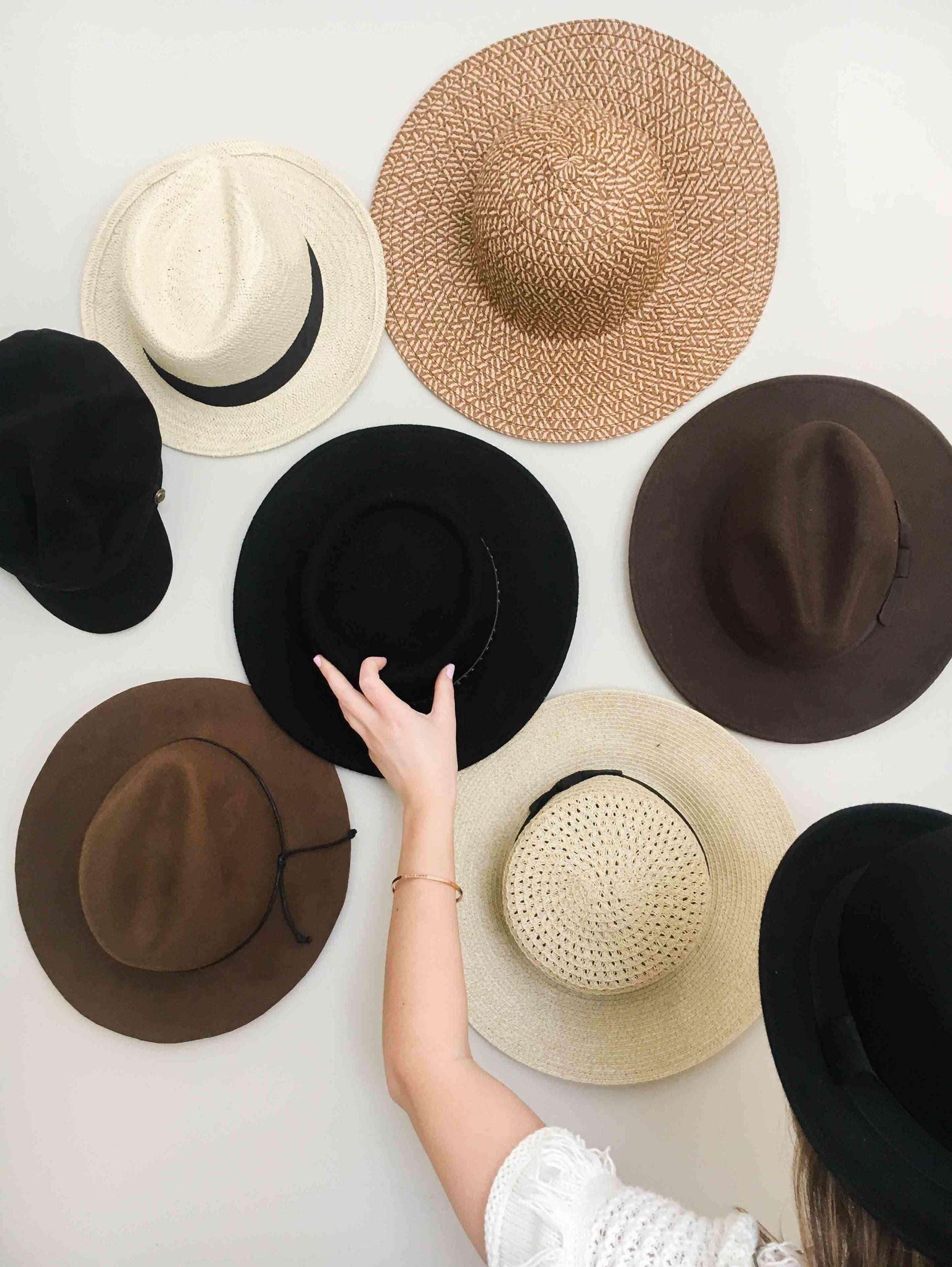 Diy Hat Wall Gallery Display Amanda Puleo In 2020 Wall Hats Hanging Hats Wall Hats Display
