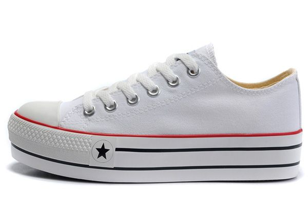 d3383115a6b Classic All Star Platforms Converse Chuck Taylor White Low Tops Canvas  Womens Sneakers  S591409  -  58.00   Discount Converse All Star Sneakers  Sale ...