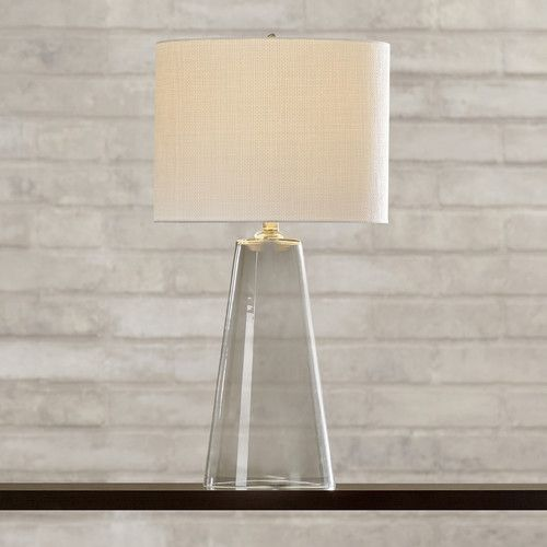 Found It At Allmodern Dania 29 5 H Table Lamp With Drum Shade Table Lamp Lamp Glass Table Lamp