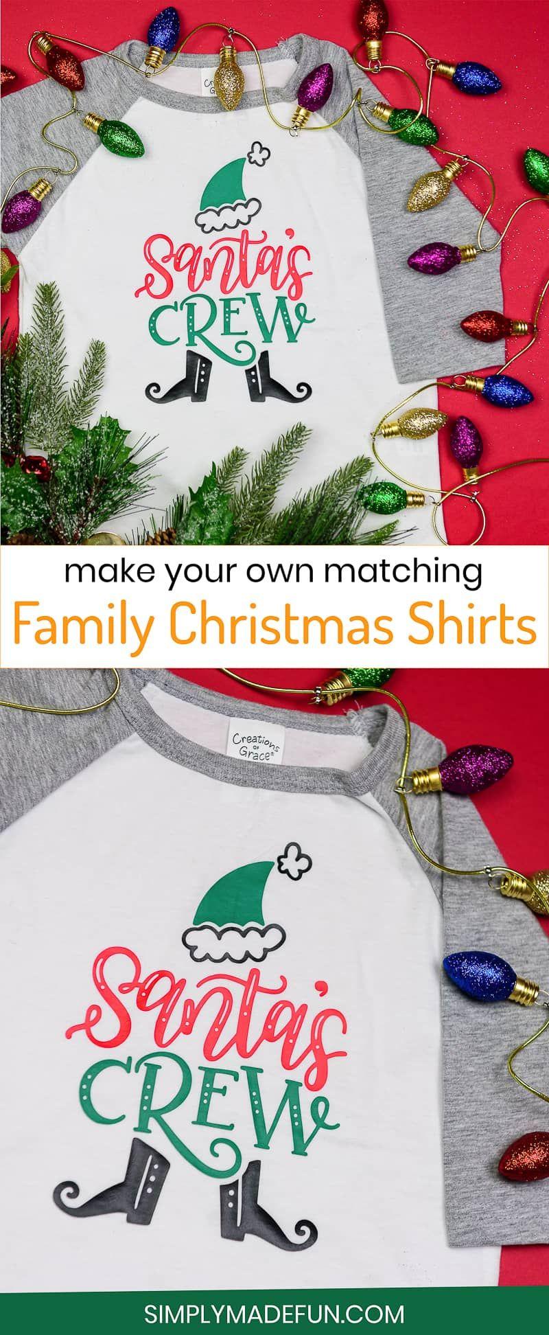 Diy Matching Family Christmas Shirts From Diy Christmas Shirts