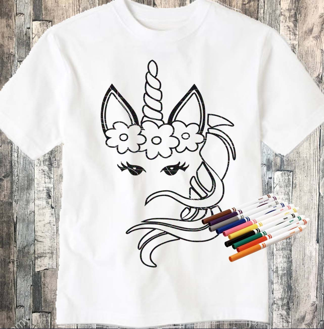 Girl Unicorn Coloring Svg Digi Stamp Unicorn Svg Coloring Page