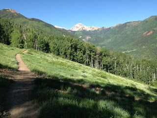 The Ditch Trail is the place to run or hike in Snowmass in the summer. Beautiful views at every turn!