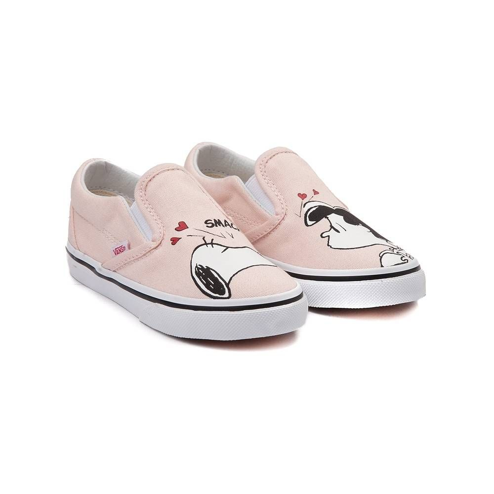 cccf2c7280 Toddler Vans Slip On Peanuts Snoopy   Lucy Skate Shoe - Light Pink -  99498092