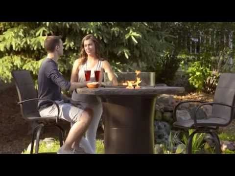 Pub Height Gas Fire Pit Table YouTube Inspired Outdoor Living By - Pub height fire pit table