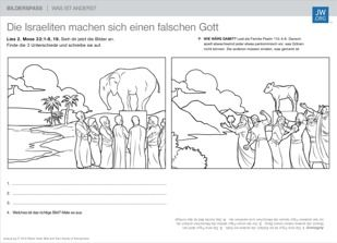 The Golden Calf Free Coloring Page Bible Kids