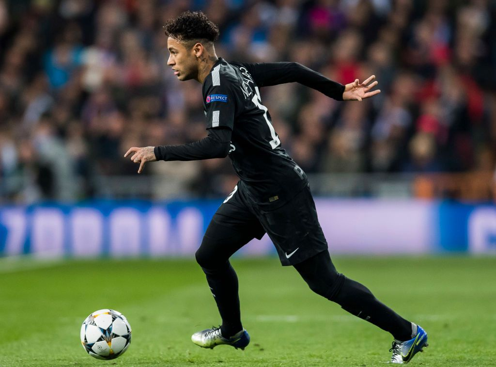 Madrid Spain February 14 Neymar Da Silva Santos Junior Neymar Jr Of Paris Saint Germain In Action During The Uefa Neymar Jr Neymar Vs Paris Saint Germain