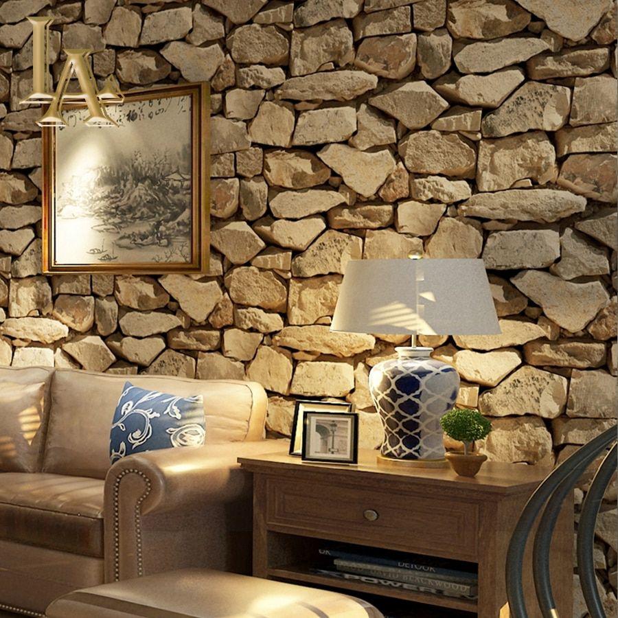 Cheap 3d Brick Stone Wallpaper Buy Quality Stone Wallpaper Directly From China Brick Stone Wallpa Brick Effect Wallpaper Stone Wallpaper Wallpaper Living Room