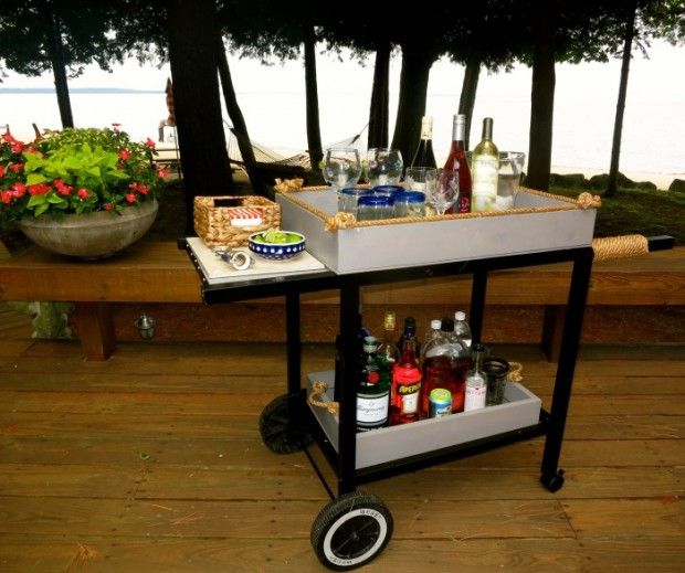 Bar Cart From Recycled Weber Grill Diy Projects To Try