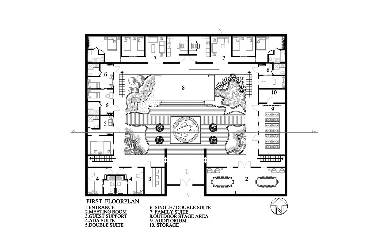 Id3753audreckabreaux March 2010 Courtyard House Plans Traditional Japanese House Traditional Chinese House