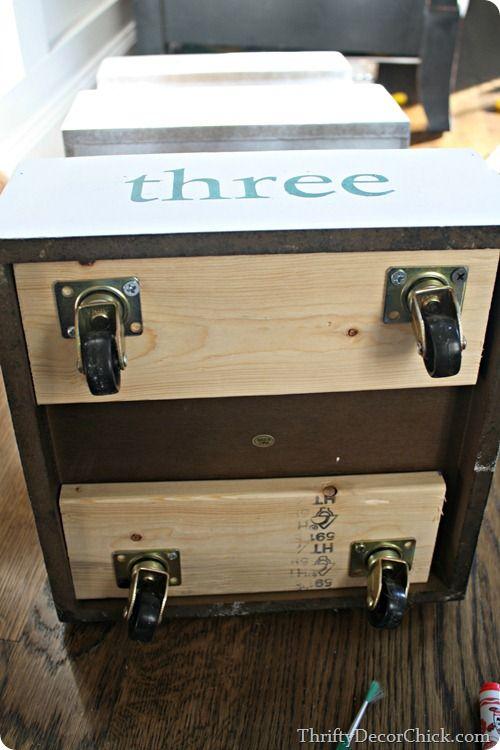 Adding Wheels Furniture Redo, Office Furniture, File Cabinet Furniture,  Rearranging Furniture, Painted