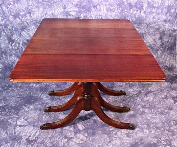 1930 Duncan Phyfe Antique Mahogany Drop Leaf Dining Table Etsy Fine Antique Furniture Dining Table Drop Leaf Dining Table
