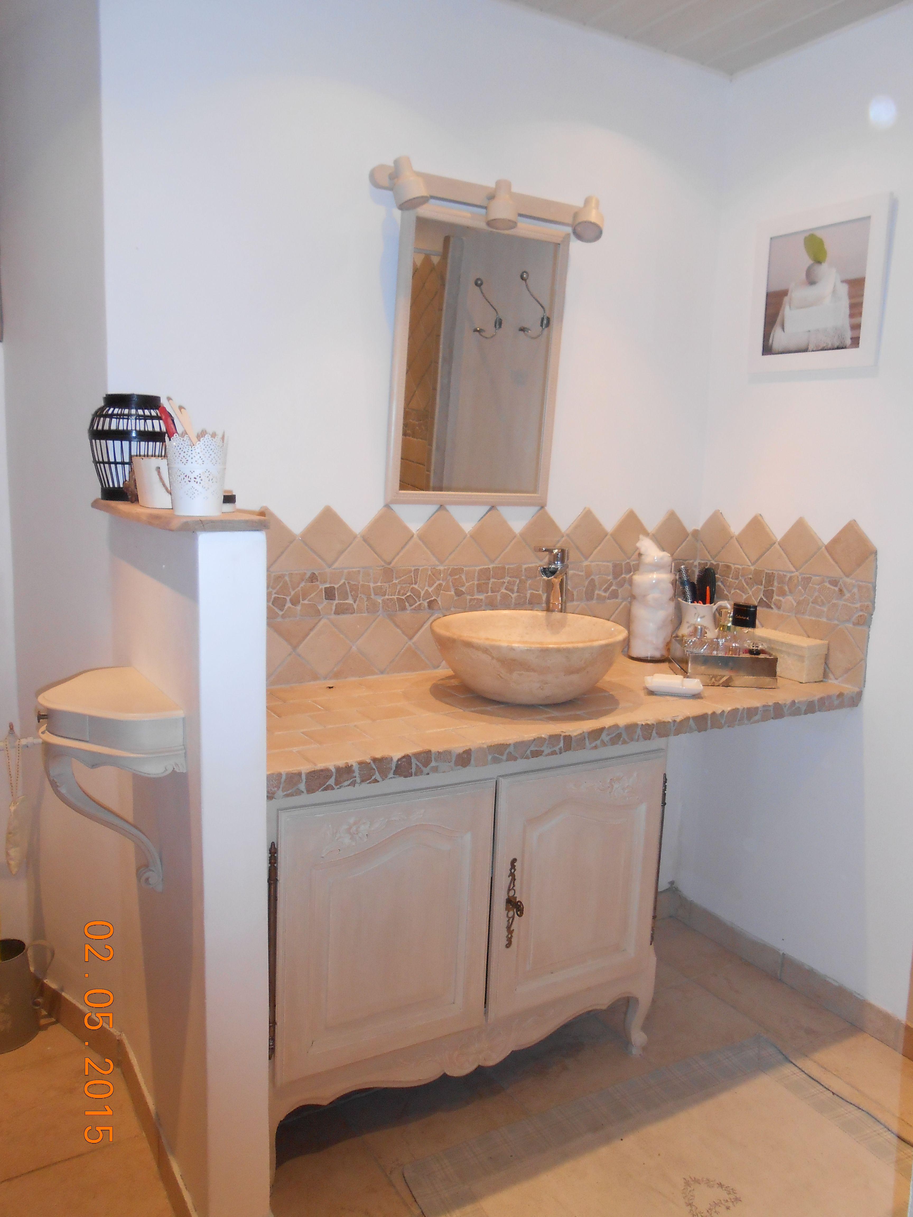 meuble salle de bain couleur argile