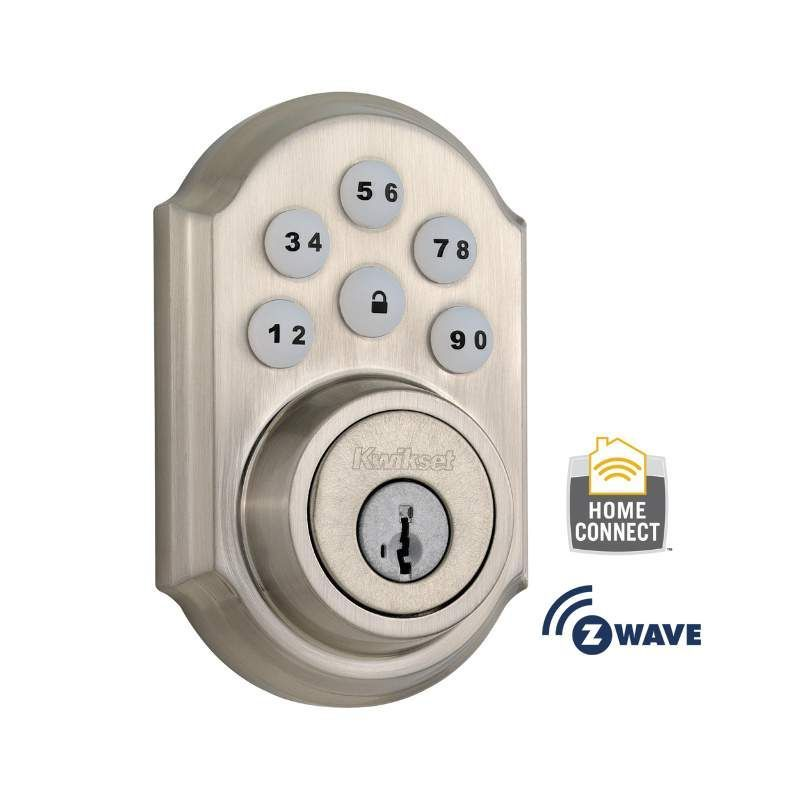 Kwikset Cp910trlzw500 11ps Venetian Bronze Smartcode Electronic Deadbolt With Z Wave Technology Kwikset Electronic Deadbolt Keyless Door Lock