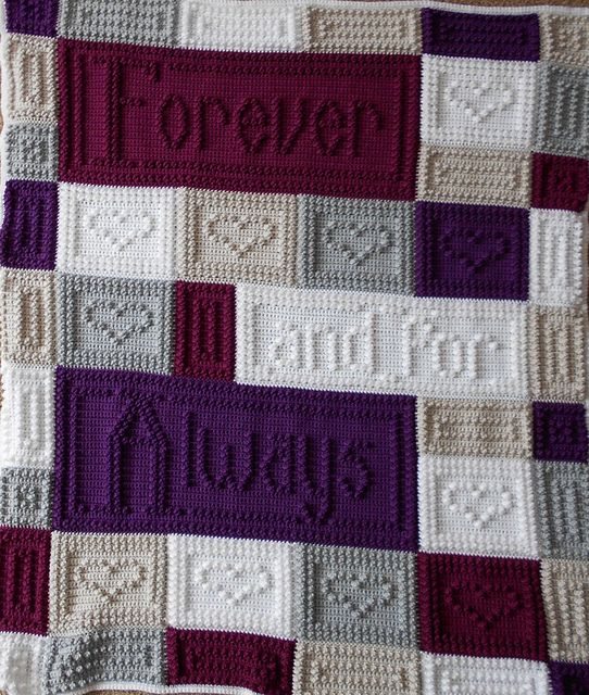 Crochet Wedding Gifts Patterns: FOREVER Blanket Pattern By Jody Pyott