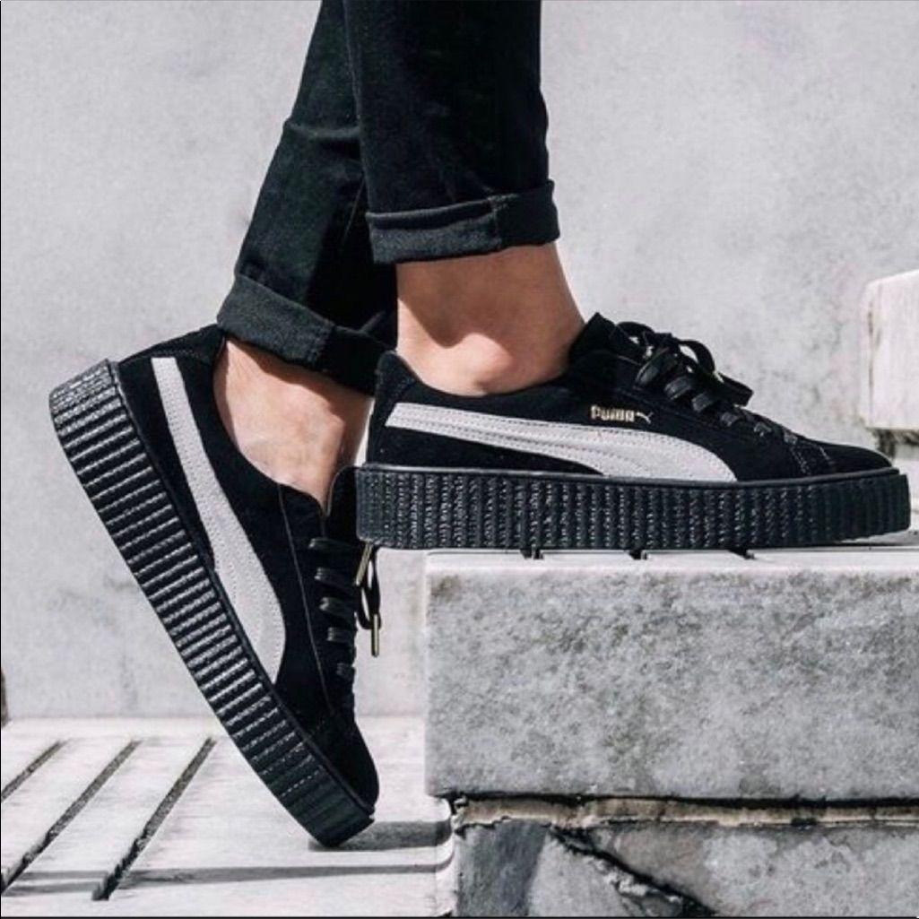 sports shoes 03ef4 67175 Puma Shoes | Fenty X Puma By Rihanna Suede Blackwhite ...