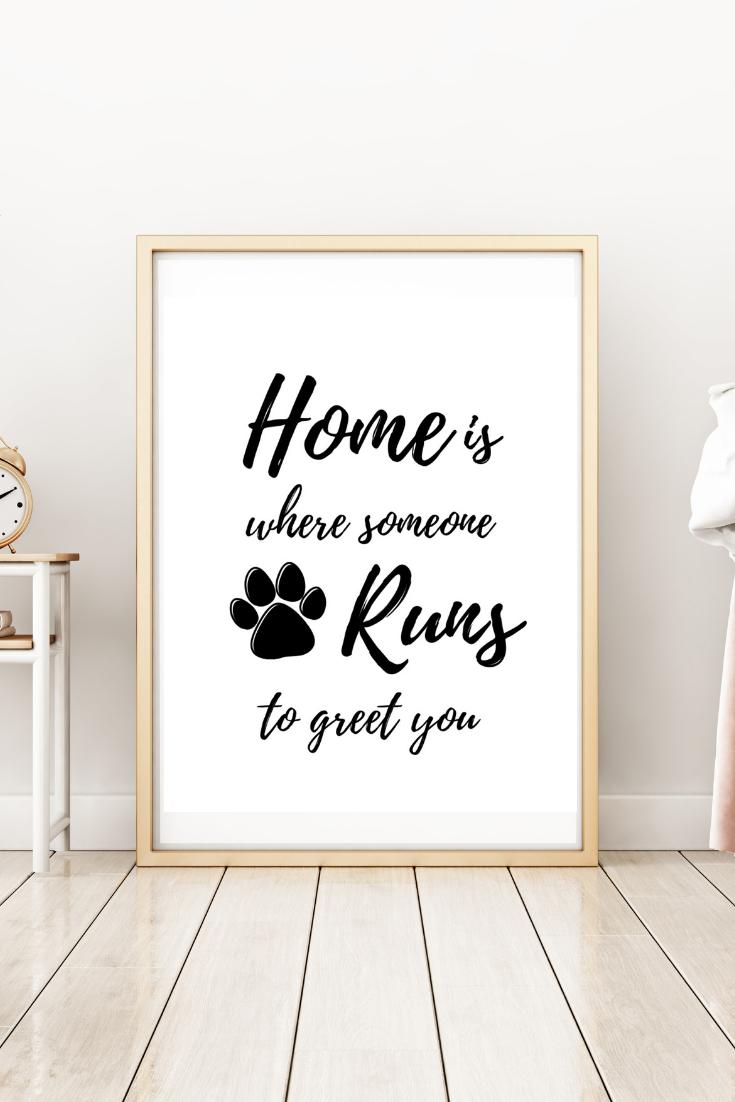 Pet Quote Print Dog Print Dog Poster Pet Wall Art Wall Art Printable Dog Printable Dog Quote