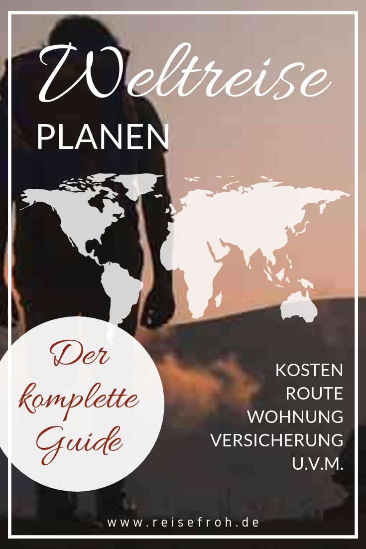 Wie plant man eine Weltreise? Wir zeigen Dir wie Du Schritt für Schritt Deine eigene Weltreise planst. Beginne jetzt mit der Vorbereitung zur Reise Deines Lebens! Alle Infos und die besten Tipps dazu gibt's hier. #holidaytrip