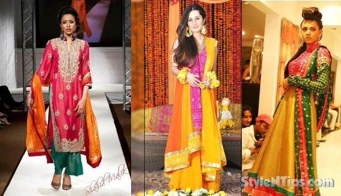 Mehndi Party Attire : Mehndi event is very important in asian wedding specially